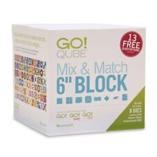 "AccuQuilt GO! Qube (Cube) Mix and Match 6"" Block Die Set 55775"