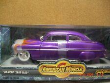 1/18 ertl american muscle 49 merc lead sled in purple