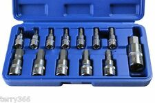 "BERGEN 13pc Metric Hex Bit Socket Set, Mixed Drive 1/4"" 3/8"" 1/2"" Allen Key,1185"
