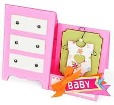 Sizzix Thinlits Baby Dresser Card set #660289 Retail $29.99 12PK SO VERSATILE!!