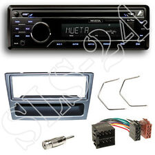 Mueta A4 CD USB SD FM Radio Set + Opel Corsa Meriva Blende anthrazit ISO Adapter