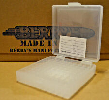 9mm / 380 - 100 round ammo case / box (CLEAR COLOR) Berrys mfg. 9 mm BRAND NEW