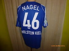 "Holstein Kiel Adidas Heim Matchworn Trikot 2008/09 ""famila"" + Nr.46 Nagel Gr.L"