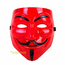 V for Vendetta Face Mask Guy Fawkes Anonymous Cosplay Masquerade Protest Costume