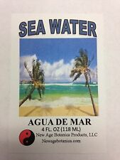NEW AGE BOTANICA PRODUCTS GENUINE SEA WATER 4 FL OZ ( AGUA DE MAR)