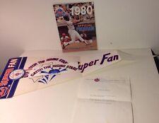 RARE Vintage 1985 New York Mets MLB Baseball Super Fan Banner & 1980 Program