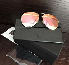 Dior GOLD/PINK Split 59mm Aviator Sunglasses! WORN ONCE! LIKE NEW!  SUPER HOT!!!