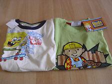 2 T-Shirt`s Größe 116, Bob der Baumeister und Sponge Bob