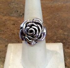 """YAACOV HELLER"" STERLING SILVER 925 3D BLOOMING ROSE RING SZ 8 SPECTACULAR!!!"