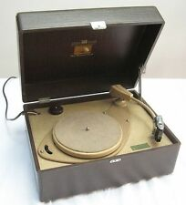 HIS MASTER'S VOICE HMV vinyl record player turntable deck 1950s 'Mock Croc' !