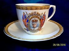 RARE 1937 GRINDLEY  CREAMPETAL CORONATION  H.M. KING EDWARD VIII Teacup & Saucer