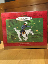 2000 HALLMARK KEEPSAKE ORNAMENT THE LONE RANGER BY ARTIST DUANE UNRUH NEW IN BOX