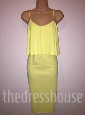 BNWT Definitions Yellow  Cami Bodycon Dress Size 14 Stretchy RRP £40