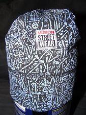Vintage VISION Street Wear Beanie Blue/Black skeletons-skateboard, NOS, 80'S