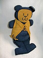 """Vintage 15"""" Bear - Stuffed with Suede Face and Suede fringe vest"""