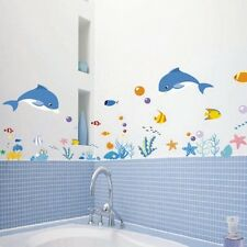 Wall Stickers Decal Decor Bath Room Vinyl Removable DIY Art Paper Mural Sea Fish