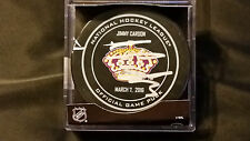 Jeff Carter signed Official Los Angeles Kings NHL Purple Crown Game Puck RARE