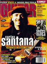 GUITAR WORLD MAGAZINE FEBRUARY 2000 CARLOS SANTANA W/POSTER CARS POLICE INCUBUS