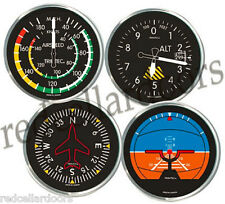 TRINTEC 4 pc Coaster  Aircraft Instrument ACRYLIC COASTERS Altimeter Gyro New