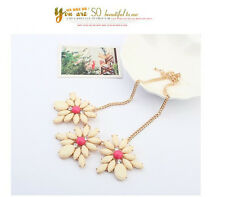 Wedding Fashion Mixed Style Chain Crystal Flower Bib Big Statement Necklace P59