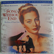 Song Without End  : The Story of Franz LISZT  Dirk Bogarde NEW Laserdisc Edition