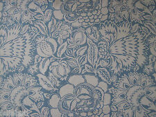 "SANDERSON CURTAIN FABRIC DESIGN ""Poppy Damask"" 1.5 METRES INDIGO/LINEN (150 CM)"