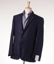 NWT $2195 LUCIANO BARBERA Navy Blue Lightweight Wool-Silk Sport Coat 40 R (Eu50)