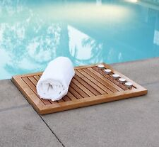 Oceanstar Bamboo Floor and Shower Mat FM1163 New