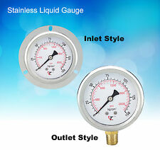 "Hydraulic Stainless Liquid Gauge 250kg AT-250 3/8"" * 2-1/2"" (Outlet Style)"