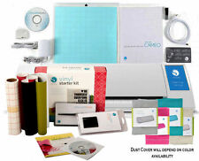 Silhouette CAMEO V2 Digital Cutting Machine Vinyl & Tools Kit Dust Cover Bundle
