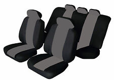 AUSTIN ROVER METRO Universal SPORTY Fabric Car Seat Covers BLACK & GREY