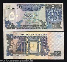 QATAR 50 RIYALS P17 1996 BOAT UNC GULF GCC CURRENCY MONEY BILL ARAB BANK NOTE