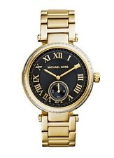 Michael Kors Watch * MK5989 Skylar Chrono Black Face Gold Steel Women COD PayPal