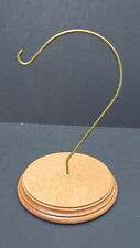 "Display Stand Hook ~ Solid Wood Base 3.75""-4"" Clearance from Hook ~Ornaments"