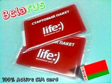 New! Belorussian sim card for INTERNET DATA VOICE in Belarus (micro and nano)