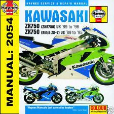 Kawasaki ZXR750R ZXR750 Ninja ZX-7 ZX750L ZX750M 1989-1996 Haynes Manual 2054