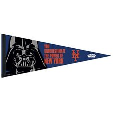 "NEW YORK METS STAR WARS DARTH VADER ROLL UP PREMIUM FELT PENNANT 12""x30"""