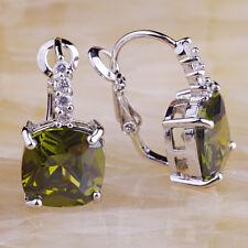 Amethyst Morganite Peridot White & Green & Pink Topaz Garnet New Silver Earrings