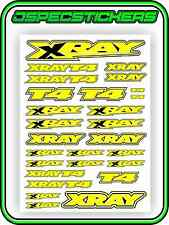 XRAY RC CAR STICKER SET VINYL DECAL T4 1/10 4WD YELLOW DRIFT A4 TAMIYA HPI R/C