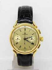 "chronographe suisse ""LORENZ"" en or 18k mouvement 7733,vintage chrono"