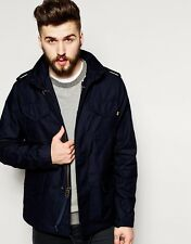 Alpha Industries Military Field Funnel Neck Zip Jacket Coat Navy  S £160