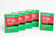 Fuji FP-100C Silk Film 5x PACK for Polaroid Land Camera 08/2018