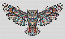 "Indian Owl Counted Cross Stitch Kit  OwlsWildlife 15"" x 9"" Animals/Insects"