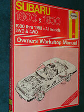 1980 / 1981 / 1982 / 1983 SUBARU 1600 / 1800 SHOP MANUAL / HAYNE'S SERVICE BOOK