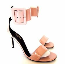 W-1068239 New Saint Laurent Pink Jane 80 Bracel Sandal Marked Size 38 US-8