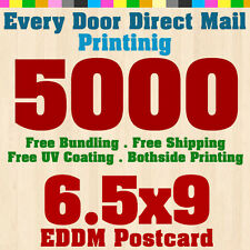"""5000 Every Door Direct Mail Postcard Printing Size 6.5""""x9"""" - 14pt Card Stock UV"""