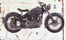 Indian Scout 1949 Aged Vintage SIGN A4 Retro