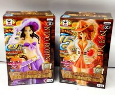 One Piece Figure Nico Robin Nami The Grandline Lady 15th Edition New in Box 2pcs