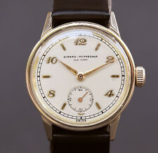 14K SOLID GOLD 40s Vintage GIRARD PERREGAUX 'Sea Hawk' 06 15J MIDSIZE SWISS MEN