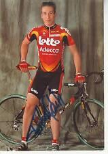 CYCLISME carte cycliste FULCO VAN GULIK équipe LOTTO ADECCO 2001 signée